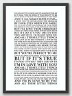 Little Things - One Direction 1D Song Lyrics Typography Print Poster Artwork