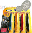 JOHNSONS Velvet Cat FLEA Collar With or Without a ENGRAVED PET ID TAG / Tags