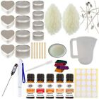 Christmas Candle Making Kit - Complete Beginner Wax Melt Set Fragrance & Colour