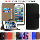 Case For iPhone SE 5S 5 Wallet Magnetic Flip Real Genuine Leather Case Cover