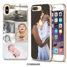 PERSONALISED PHOTO OR COLLAGE HARD PHONE CASE COVER IPHONE 5 SE 6 7 8 X MAX XR