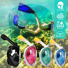 Kids Adult Full Face Snorkel Diving Mask Surface Swimming Tool Scuba Pipe Gopro