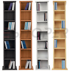 Tall CD DVD Rack 109cm Wooden Storage Shelf Tower Free Standing Unit  6 Teir New