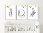 3 Personalised Baby Name Prints Pictures Peter Rabbit Christening Gifts Nursery