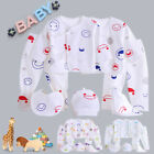 7pcs Newborn Baby Clothes Unisex Infant Outfits Layette Set With Lovely pattern