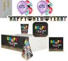 New Years Eve party plates napkins tablecover FREE cups* balloons decor 2019