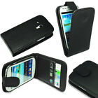For Samsung Galaxy S3 Mini i8190 Black Flip Leather Case Cover + Screen