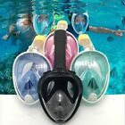 Fit Breath Full Face Mask Surface Diving Snorkel Scuba for GoPro Swimming Tools
