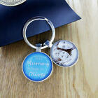 Personalised Photo Glass Keyring Mothers Day  Birthday Gift Daddy Mummy Grandad
