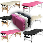 Folding Portable Massage Table Beauty Salon Tattoo Chair Couch PU Leather Bed