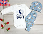 2019 Easter Bunny Outfits Toddler Baby Boy Girl Romper Bodysuit+Pants Clothes UK