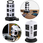 3M Long Extension Lead Cable Surge Protected Tower Mains Power Socket with USB