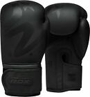 RDX Leather Boxing Gloves MMA Training Fight Sparring Punching kickboxing F15MB