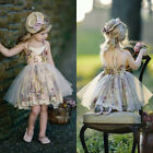 Flower Girl Dresses Lace Wedding Pageant Formal Party Tutu Dress Outfit UK Stock