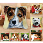Latch Hook Rug Making Kits Dogs Cat Cushion Cover Embroidery Christmas Gift