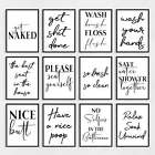 Bathroom Wall Art Prints, Bathroom Pictures Decor, Black & White Poster Quotes
