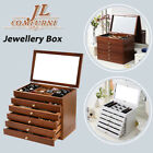 Large 6 Drawers Jewellery Box Oganiser For Makeup And Accessories Storage UK
