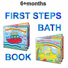 New First Steps Soft PVC Water Proof Baby Bath Books Educational 2 to choose fro