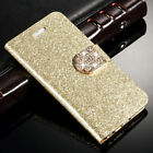 For Samsung Galaxy S3 Mini Bling Glitter PU Leather Diamond Magnetic Case Cover