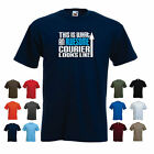 This is What an Awesome Courier Looks Like  Mens Funny Delivery Driver t-shirt