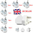 Genuine CE UK MAINS 3 PIN USB PLUG CHARGER ADAPTER FOR Mobile Phones Wholesale