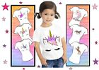 UNICORN IRON ON T SHIRT TRANSFER  LIGHT FABRIC CHOICE OF TRANSFERS