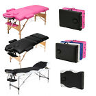 2/3 Folding Portable Massage Table Wooden/Aluminum Salon Beauty Facial Tatto Bed