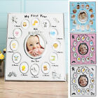 Baby My First Year Photo Frame Set Newborn Baby s 12 Months Christening Gift