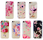 Shockproof Silicone Floral Flower Case Clear Cover iPhone 5 6 7 8 plus XS MAX XR