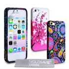 Accessories For The Apple iPhone 5/5S Floral Design Silicone Case Cover & Film