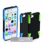 Accessories For The Apple iPhone 5 / 5S Tough Mesh Silicone Case Cover & Film UK