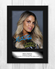 Trish Stratus WWE A4 mounted signed photograph poster. Choice of frame.