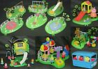 PEPPA PIG PLAY GROUND / PARK / FUNFAIR SETS. TREE HOUSE BALLOON RIDE SWINGS TOYS