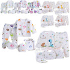 5PCS 0-3M Unisex Newborn Infants Cotton Monk Shirt Pants Baby Outfits Clothes