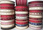 East of India Gift Wrapping Ribbon Merry Christmas Ribbons 1, 3, 5 or 10 Metres
