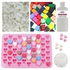 Wax Melt Kit 31 - Eco Soy Fragrance Colour Glitter Heart Mould Candle Making Set