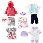 "Toys ""R"" Us Set of 5 Baby Doll Outfits New Born Baby Dolls Clothes Romper Dress"