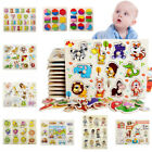 UK Kids Toddler Jigsaw Puzzle Baby Developmental Wooden Game Toy Funny Education
