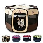 UK Large Pet Dog Cat Playpen Portable Tent Oxford Fabric Fence Kennel Cage Crate