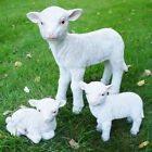 Small Lamb Garden Figures Farm Animal Lawn Ornaments Resin Sheep Patio Statues