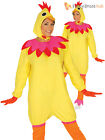 Adults Easter Hen Costume Mens Ladies Chicken Fancy Dress Womens Novelty Outfit