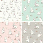 Lifestyle Woodland Bunnies Bunny Rabbits Wildlife 100% Cotton Fabric 140cm Wide