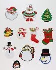 Christmas Xmas Craft  Embroidered Sew On Iron On Motif Patches Applique
