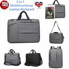 3 in 1 Notebook Backpack 17 inch Laptop Rucksack Briefcase Travel Business Bags