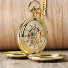 Personalised Mens Mechanical Pocket Watch Double Hunter Swiss Antique Style Xmas