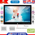 "Digital LCD Photo White Metal Frame LED Picture Video Player 15"" + Remote UK"