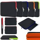 """15.6"""", 10.2"""" Laptop Neoprene Zip Sleeve Pouch Bag Carry Case Cover For Notebooks"""