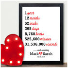1st Wedding Personalised Anniversary Gifts First Wedding Anniversary Presents