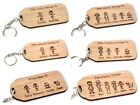 Personalised Our Family Character Key Ring Daddy Mummy Nanny Grandad Gift