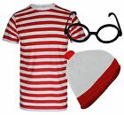Mens Adult Unisex Wheres Wally Waldo Fancy Dress World Book Day Outfit School UK